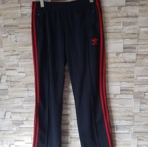 Adidas Navy And Red Trackpants Size Medium